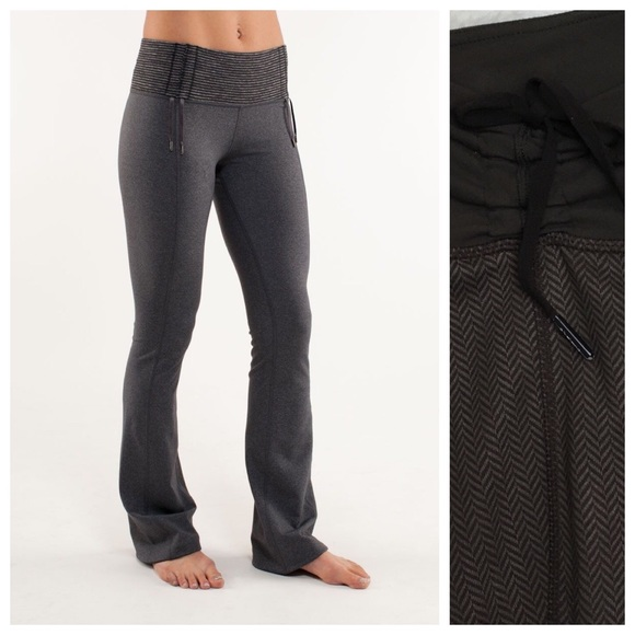 b7b8b9eb6a lululemon athletica Pants - Rare Lululemon Brown Herringbone Yoga Pant